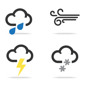 Picture of bad weather icons